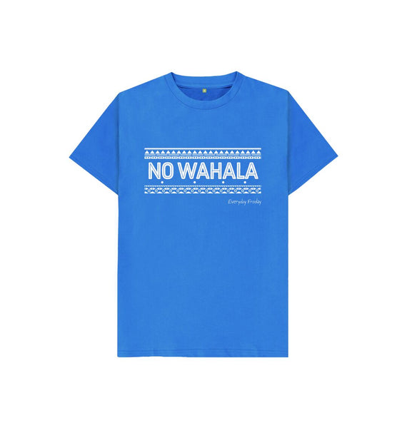 Bright Blue Unisex Kids Tee | No Wahala