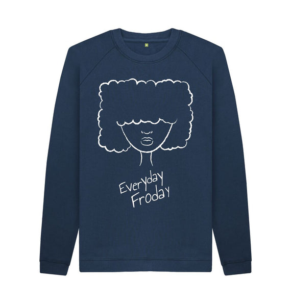 Navy Blue Unisex Sweatshirt | Froday Girl