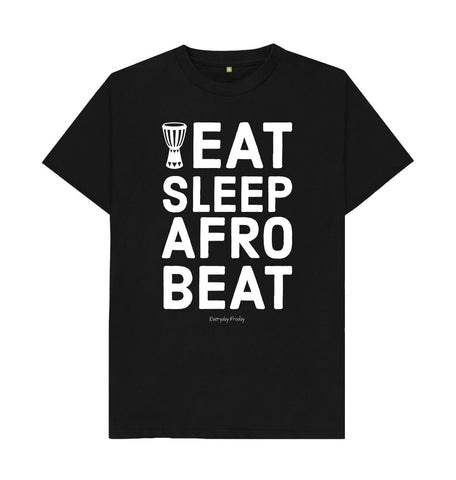 Black Unisex Tee | Eat Sleep Afrobeat