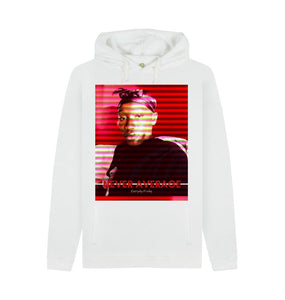 White Unisex Hoodie | Never Average RED (white)