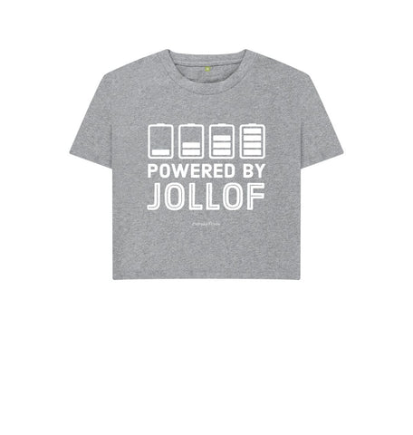 Athletic Grey Unisex Boxy | Powered By Jollof