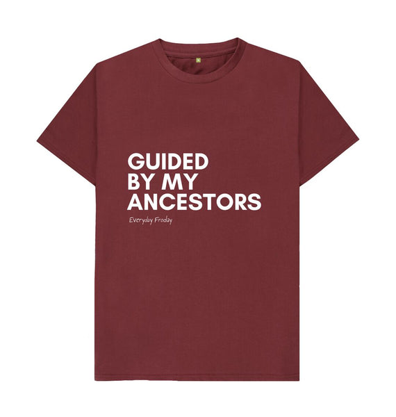 Red Wine Unisex Tee | Guided by my ancestors (coloured)