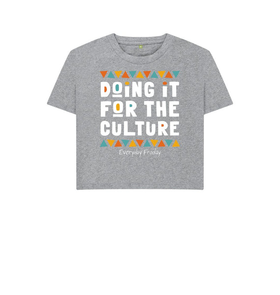 Athletic Grey Boxy Tee | Doing it for the culture