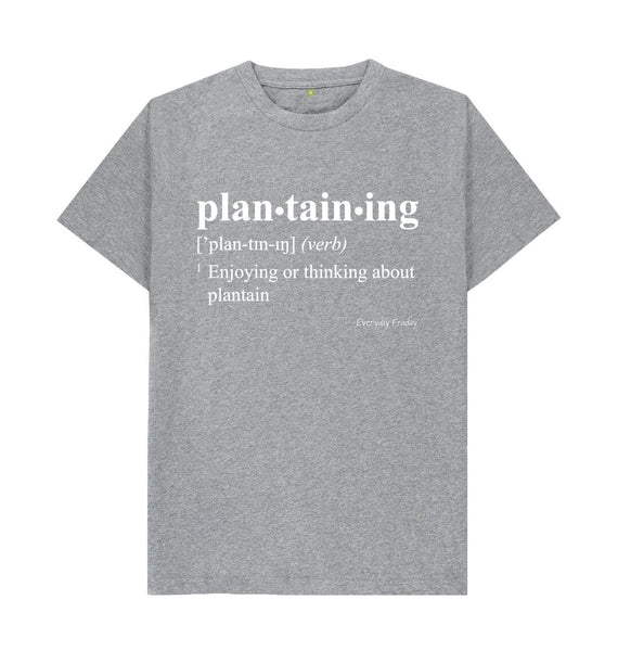 Athletic Grey Unisex Tee | Plantaining (Colour)