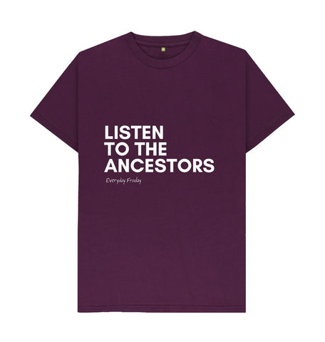 Purple Unisex Tee | Listen to the ancestors (coloured)