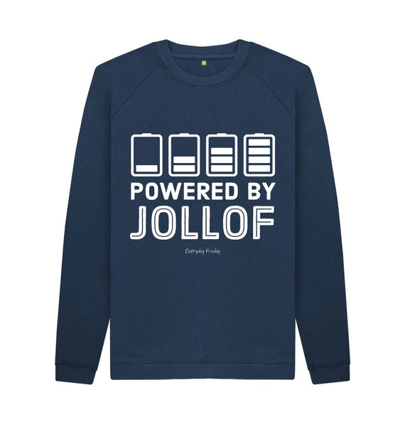 Navy Blue Unisex Sweatshirt | Powered By Jollof