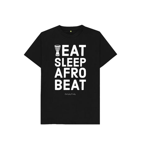 Black Unisex Kids Tee | Eat Sleep Afrobeat