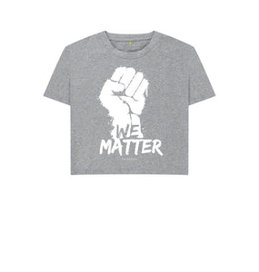 Athletic Grey Boxy Tee | We Matter