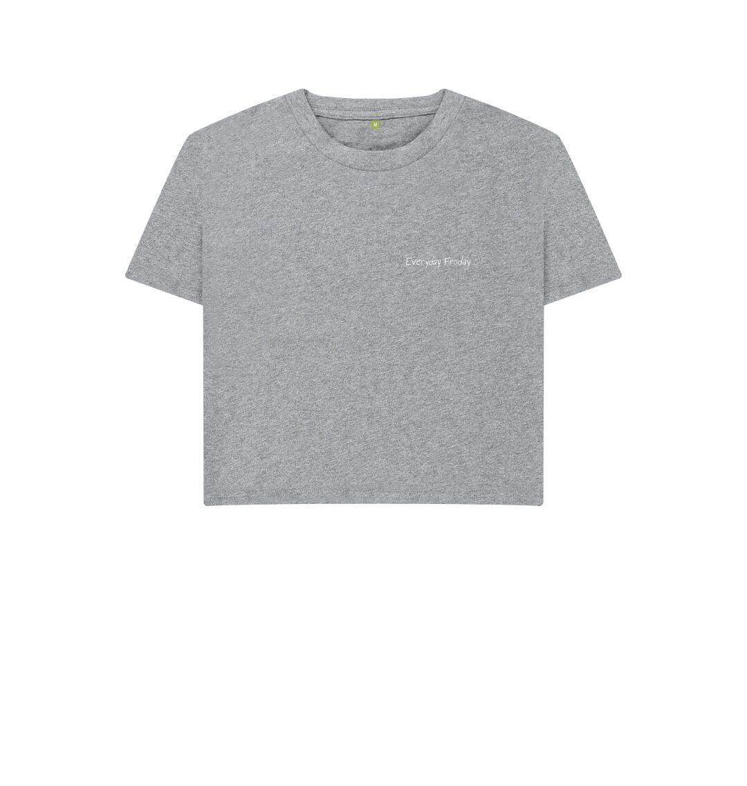 Athletic Grey Unisex Boxy | Everyday Froday Classic Small Logo