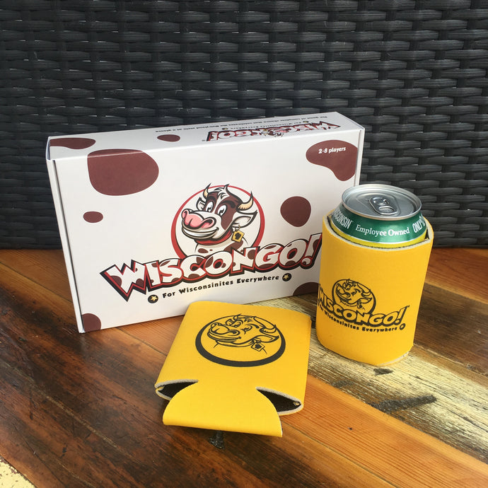 Wiscongo! Bingo Game + 2 Koozies
