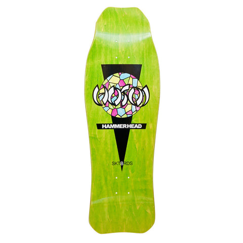 Hosoi Skateboards Double Kick Oldschool reissue Deck GREEN stain – 10.25 X 31