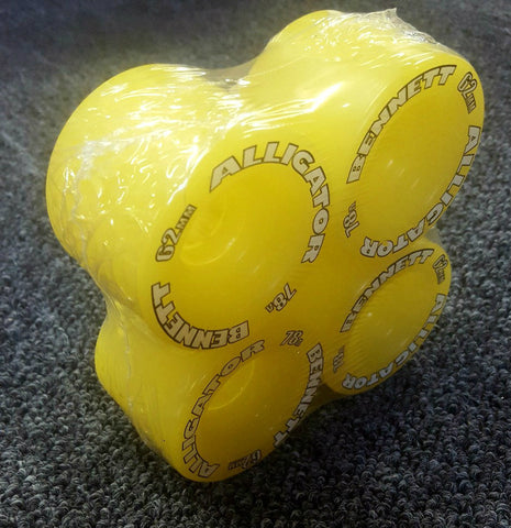 Bennett Alligator wheels 62mm 78a reissue YELLOW