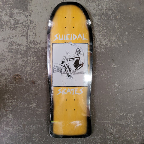 Dogtown Suicidal Skates POOL SKATER graphic - YELLOW STAIN