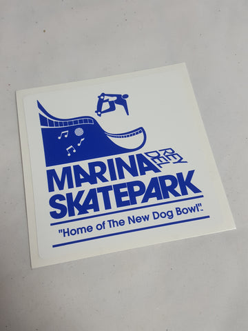 Marina Del Rey sticker WHITE (BLUE PRINT)