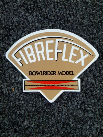 G&S Gordon and Smith Fibreflex STICKER - GOLD  Bowlrider Model 3.75""