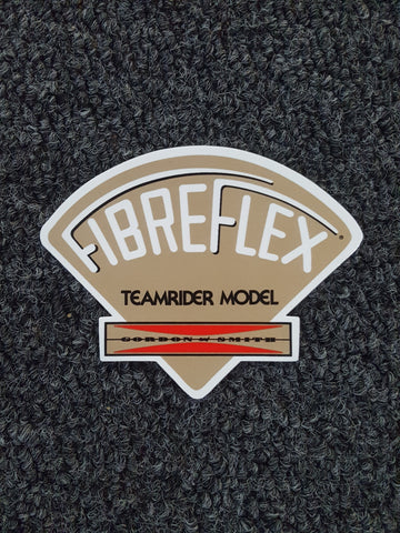 G&S Gordon and Smith Fibreflex STICKER - GOLD  Teamrider Model 3.75""