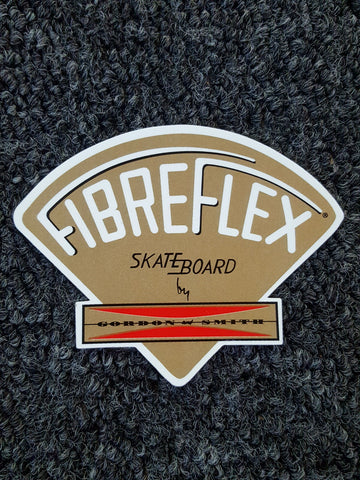 G&S Gordon and Smith Fibreflex STICKER - GOLD  Skateboard by 3.75""