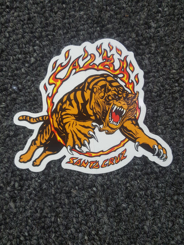 "Santa Cruz SALBA TIGER STICKER - 3.5"" x 4"""