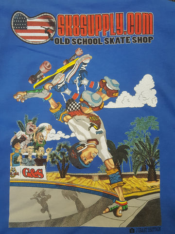 SK8SUPPLY Billy Ruff T shirt !  - BLUE