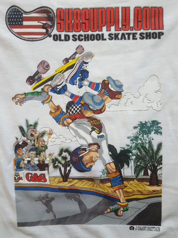 SK8SUPPLY Billy Ruff Shop Shirt WHITE  $5.99