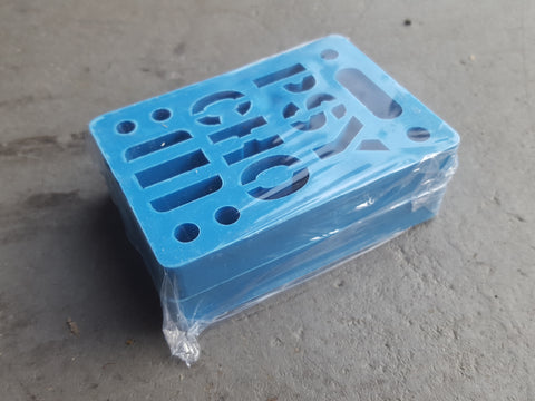 "Riser Pads Phycho Risers - 1/2"" BLUE"