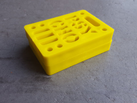 "Riser Pads Phycho Risers - 1/2"" YELLOW"
