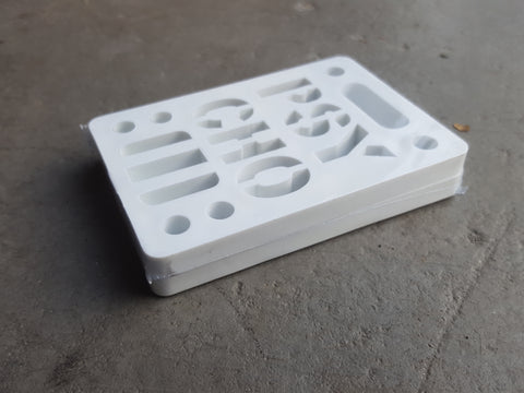 "Riser Pads Phycho Risers - 1/4"" WHITE"