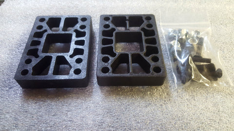 "Riser Pads Khiro Risers - 1/2"" BLACK (with hardware)"