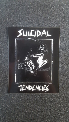 "Dogtown SUICIDAL TENDENCIES Pool Rider STICKER 4"" - BLACK"