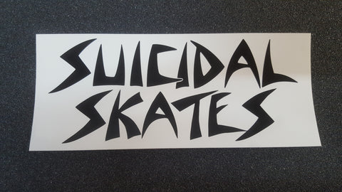 "Dogtown SUICIDAL SKATES Classic STICKER 6.5"" - WHITE"