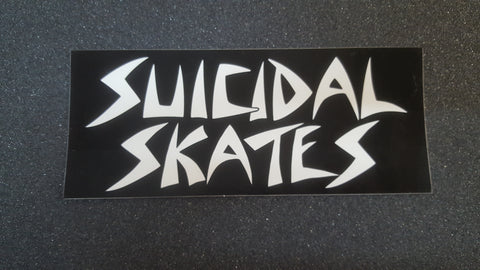"Dogtown SUICIDAL SKATES Classic STICKER 6.5"" - BLACK"