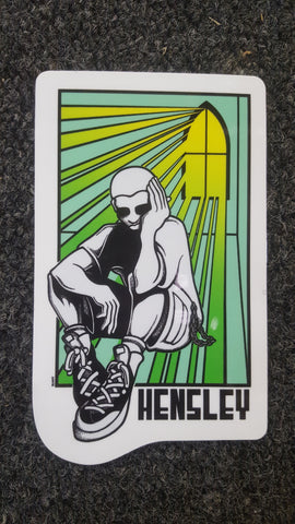 H Street MATT HENSLEY Stained Glass - STICKER GREEN