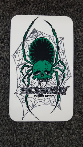 SK8SUPPLY shop sticker SPIDER art by El Pato