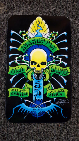 SK8SUPPLY shop sticker art by Wes Humpston