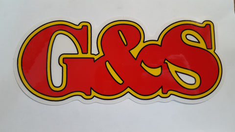 G&S Gordon And Smith Large Letter logo sticker - RED YELLOW 7.75""