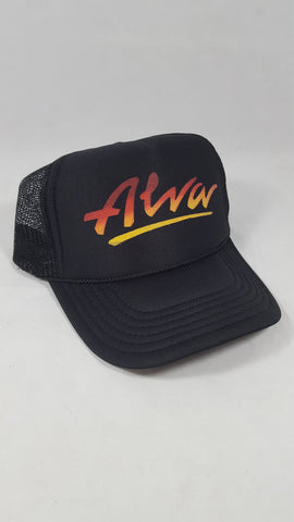 Alva Mesh trucker hat - BLACK FADE