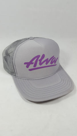 Alva Mesh trucker hat - GREY PURPLE