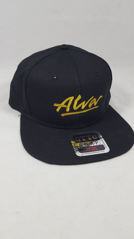 Alva Full Canvas Embroidered Snap Back hat - BLACK