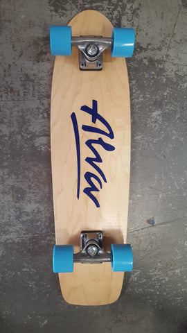 ALVA 77 reissue Complete Skateboard reissue - TWILIGHT BLUE LOGO