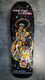 World Industries Randy Colvin FLOCKED SAFARI reissue skateboard deck - ASSORTED TOP STAIN
