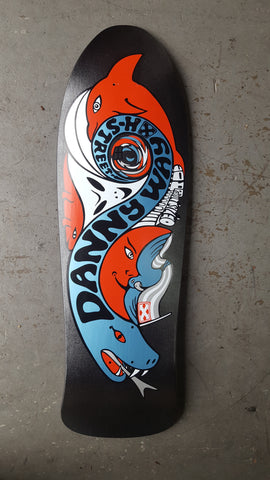 H Street DANNY WAY OG Black Hole reissue Skateboard Deck - CHARCOAL METALIC