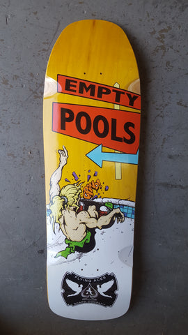 Flying Aces Empty Pools Skateboard Deck - YELLOW