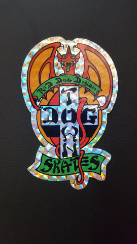 Dogtown RED DOG STICKER - FOIL