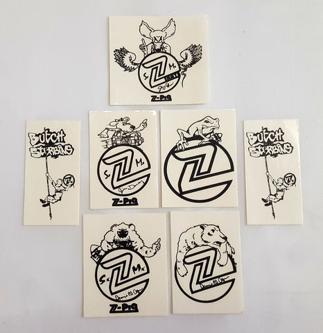 Vintage Z Flex Skateboards Sticker pack (7 pieces)