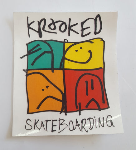 Krooked Skateboard Sticker