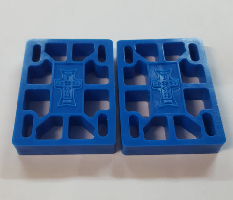 "Dogtown Risers  - 1/2"" With Hardware BLUE"