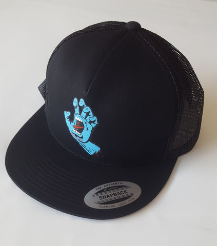 Santa Cruz SCREAMING HAND  trucker hat - BLACK