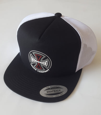 Independent Trucks Converge logo trucker hat - BLACK WHITE