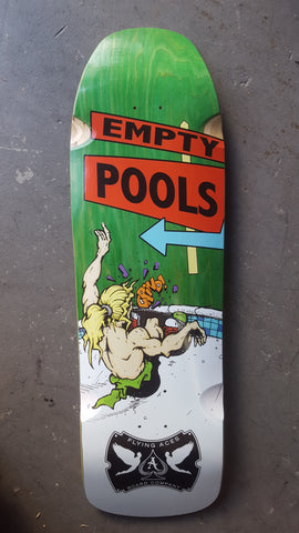 Flying Aces Empty Pools Skateboard Deck - GREEN