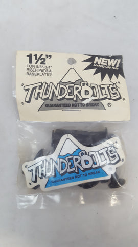 "Vintage THUNDERBOLTS HARDWARE set of 8 - 1 1/2"" - Locking Nut Caps"